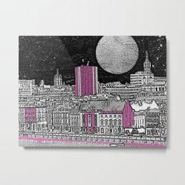 PURPLE AND THE CITY 1 Metal Print