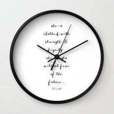 SHE IS - B & W Wall Clock