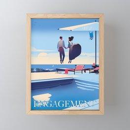 Engagement Framed Mini Art Print
