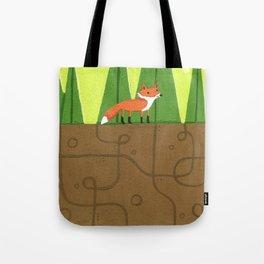 Earth Fox Tote Bag