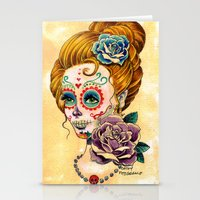 fitzgerald Stationery Cards featuring Dia de los Muertos Roses by Cathy FitzGerald