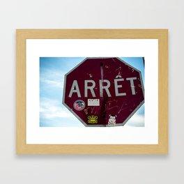 Stop Sign Framed Art Print