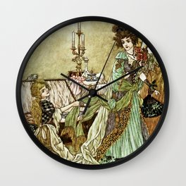 """Little Cinders and Her Sisters"" by Charles Folkard Wall Clock"