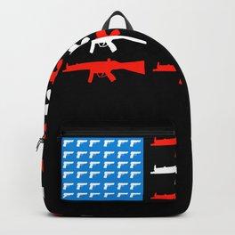 Guns Flag USA Gun Owners Gun Rights Backpack