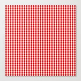 Mini Australian Flag Red Gingham Check Plaid Canvas Print