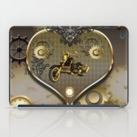 motorcycle iPad Cases featuring Steampunk, motorcycle  by nicky2342