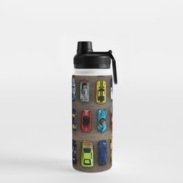 1980's Toy Cars Water Bottle