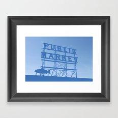 Pike Place - Public Market (Seattle, WA) Framed Art Print