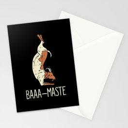 Goat Yoga Design: Baaa Maste I Namaste I Inner Peace I Yogi Stationery Cards