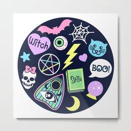 Spooky Babe Metal Print