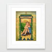 amy pond Framed Art Prints featuring Amy Pond Art Nouveau by rointheta