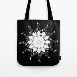 Mandala music blanc Tote Bag