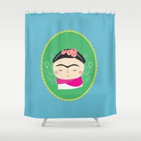frida kahlo Shower Curtains featuring frida kahlo by WreckThisGirl