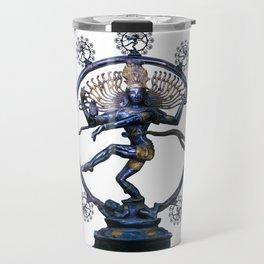 Shiva Nataraj, Lord of Dance (an actual factual fractal) Travel Mug