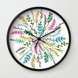 Radial Foliage Wall Clock