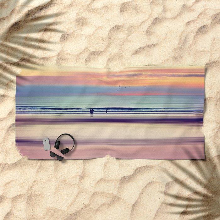Pastel Horizons Beach Towel