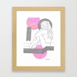 Le Soleil Rose Framed Art Print