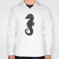 sea horse Hoodies featuring SEA HORSE by Matthew Taylor Wilson