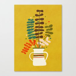 Potted Leaves Canvas Print