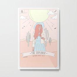 Sagittarius  - The Explorer Metal Print