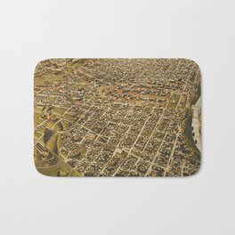Vintage Pictorial Map of Fort Worth TX (1891) Bath Mat