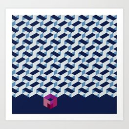 Modernist Weave Art Print