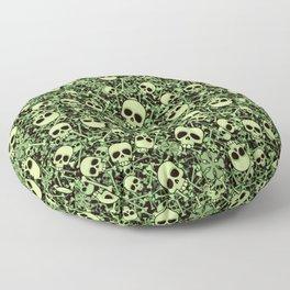 Skull Pattern | Bones Heavy Metal Cemetery Floor Pillow