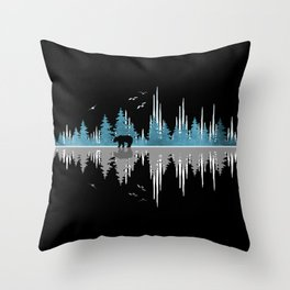 The Sounds Of Nature - Music Sound Wave Throw Pillow