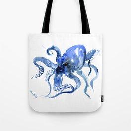 Navy Blue Octopus Artwork Tote Bag