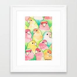 Bird no. 317: Candy Birds Framed Art Print