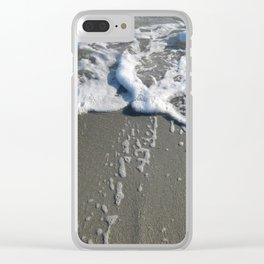 Beach Bubbles Clear iPhone Case