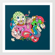 Teenage Mutant Scribble Turtle Art Print