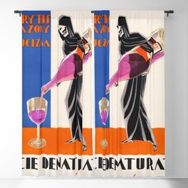 Vintage 1930 Drinking Absinthe Causes Death Alcoholic Beverage Advertising Poster Blackout Curtain