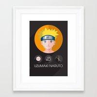 naruto Framed Art Prints featuring naruto by pixel.pwn | AK