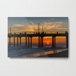The Sun Slips Away Metal Print