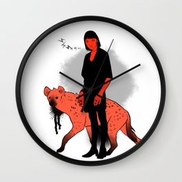 Hyena Girl Wall Clock