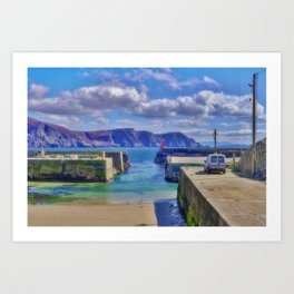 The Tide Is Out In The Harbour Art Print