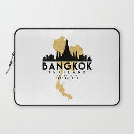 BANGKOK THAILAND SILHOUETTE SKYLINE MAP ART Laptop Sleeve