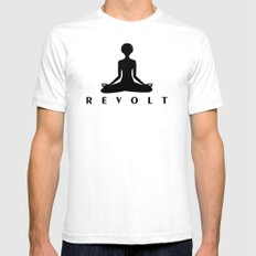 Revolt, Meditate. Mens Fitted Tee White SMALL