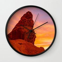 Balanced Rock Sunrise - Valley of Fire Wall Clock