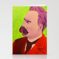 nietzsche Stationery Cards featuring Colorful Nietzsche by TheMessianicManic