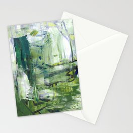 355 Jungle Lane Fine Art Abstract Painting Stationery Cards