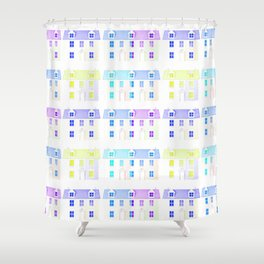 Painted Houses Shower Curtain