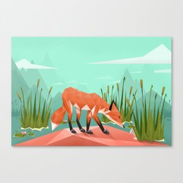 Triangular world Canvas Print