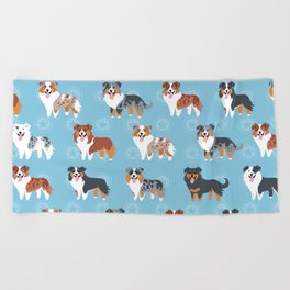 Aussie Shepherds Beach Towel