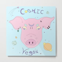 Cosmic Piggy Metal Print