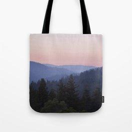 Sunset in the Santa Cruz Mountains Tote Bag