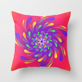 Spiral Flower by #Bizzartino Throw Pillow