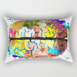 Human Brain Rectangular Pillow
