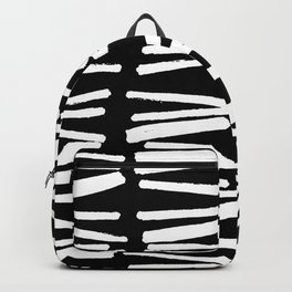 Sketched Lines Black and White Backpack